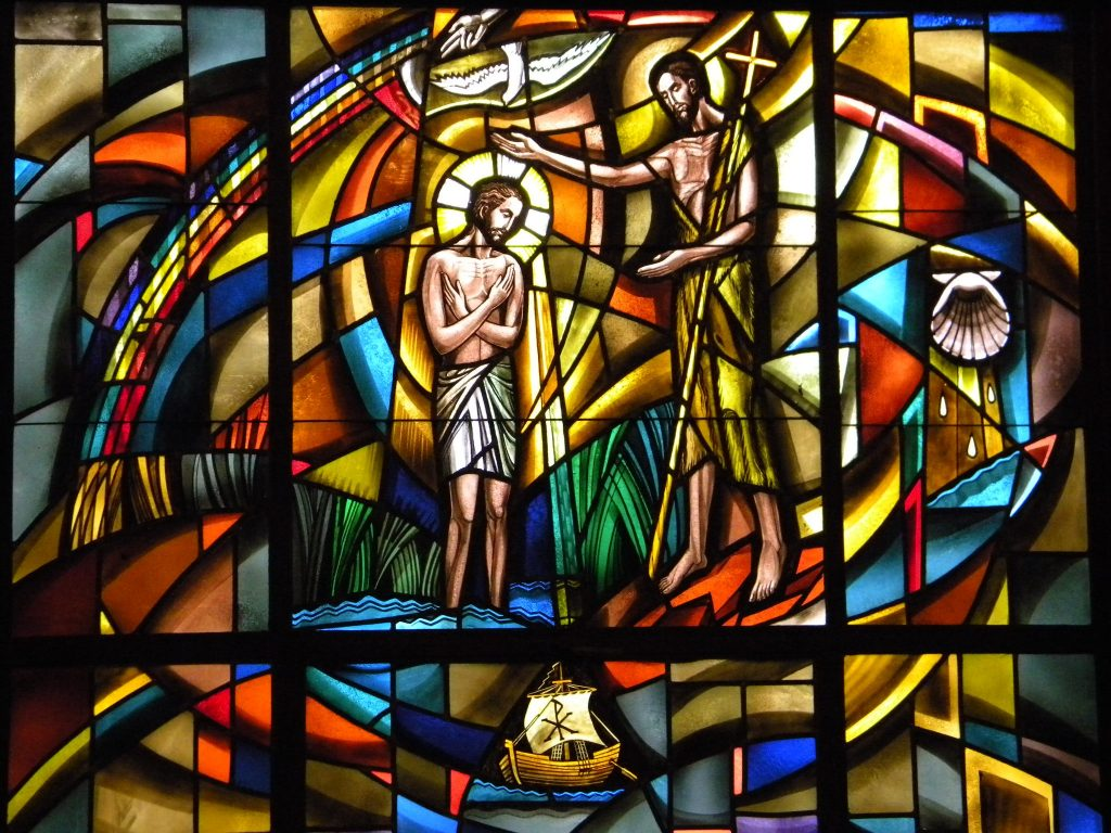 Baptism of Jesus window