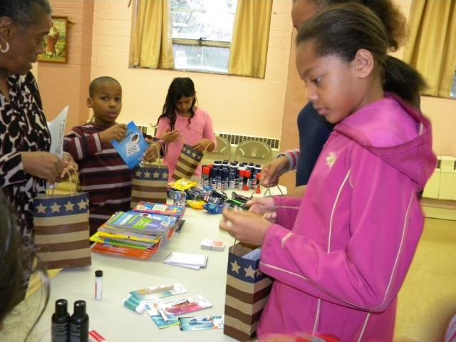 Bethlehem Lutheran Church Blessing Buddies-Packing for Veterans